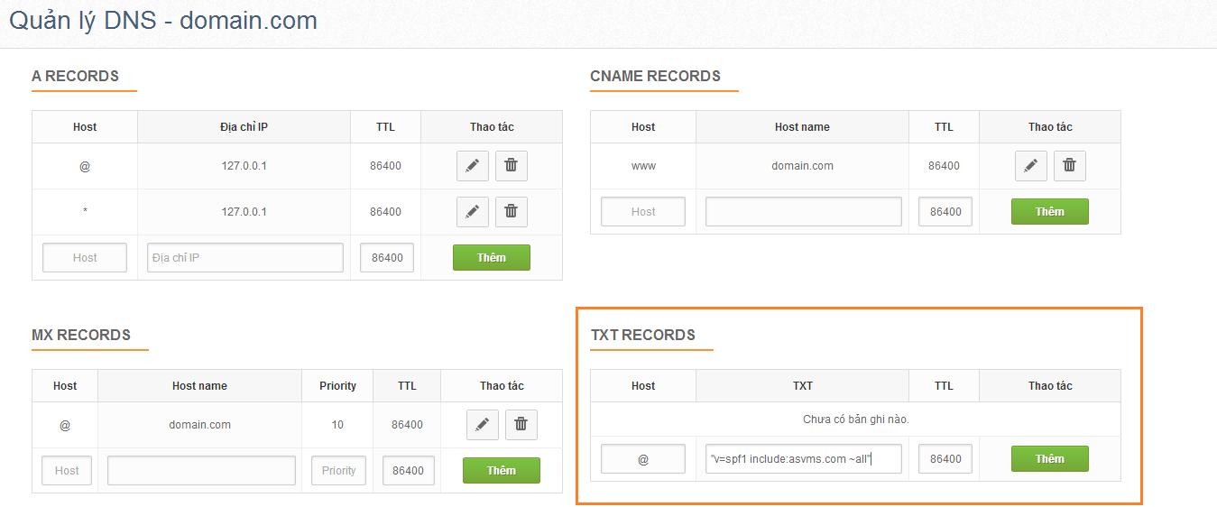 Hướng dẫn cấu hình tên miền sử dụng email marketing