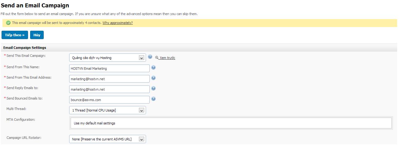 Hướng dẫn sử dụng dịch vụ Email Marketing