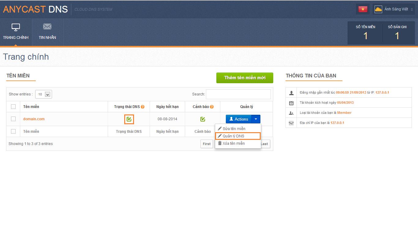 Hướng dẫn cấu hình tên miền sử dụng dịch vụ email marketing 3