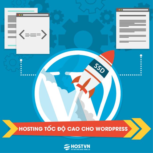 Wordpress hosting tại HOSTVN sử dụng ổ cứng SSD làm tăng tốc độ truy cập website
