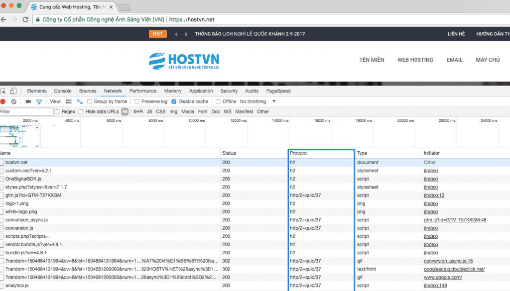 HOSTVN đã nâng cấp lên HTTP/2