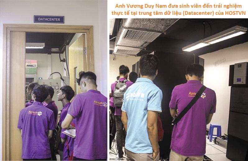 Sinh viên đến trải nghiệm thực tế tại trung tâm dữ liệu