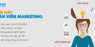 Tuyển gấp nhân viên Marketing làm việc tại Hồ Chí Minh