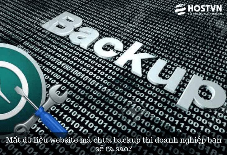 Mất dữ liệu website mà chưa backup thì doanh nghiệp bạn sẽ ra sao? 1