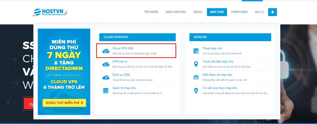 làm thế nào để đăng ký Cloud VPS dùng thử 7 ngày miễn phí
