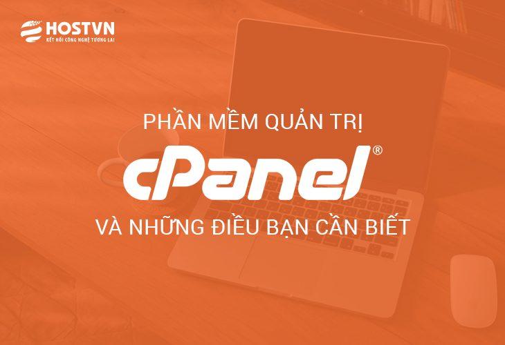 Phần mềm quản trị cPanel và những điều bạn cần biết 1