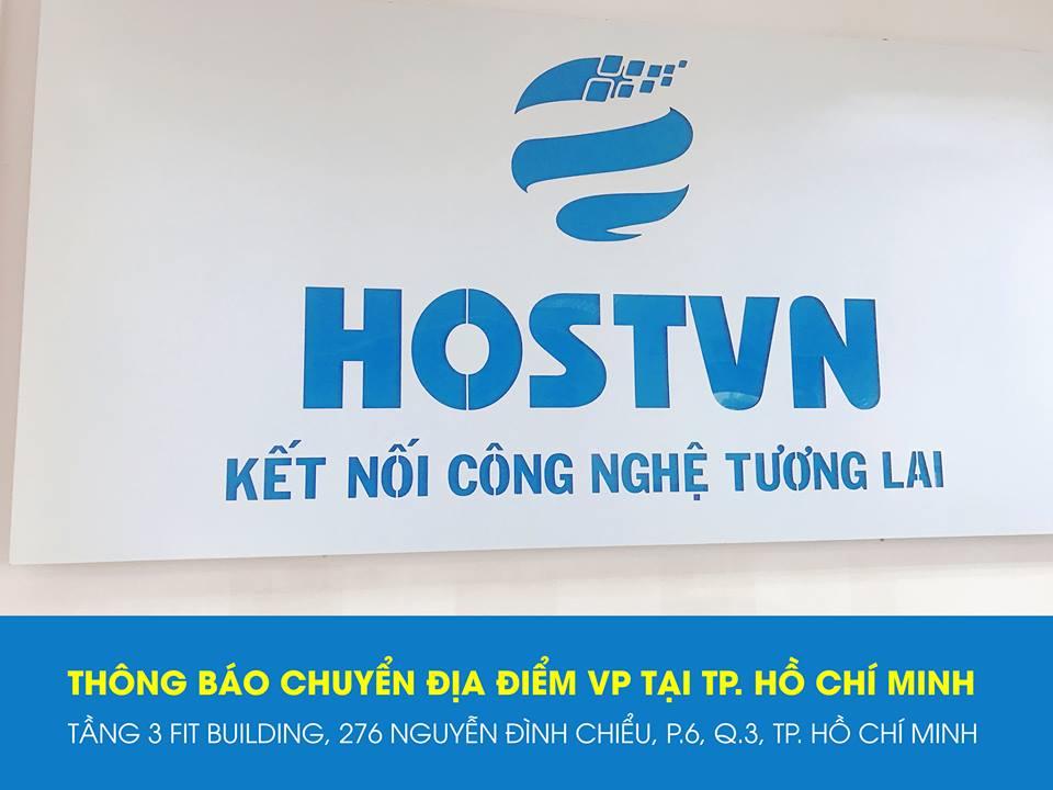 THÔNG BÁO: Chuyển địa điểm văn phòng HOSTVN tại TP. Hồ Chí Minh 1