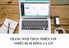 website thân thiện với thiết bị di động là gì