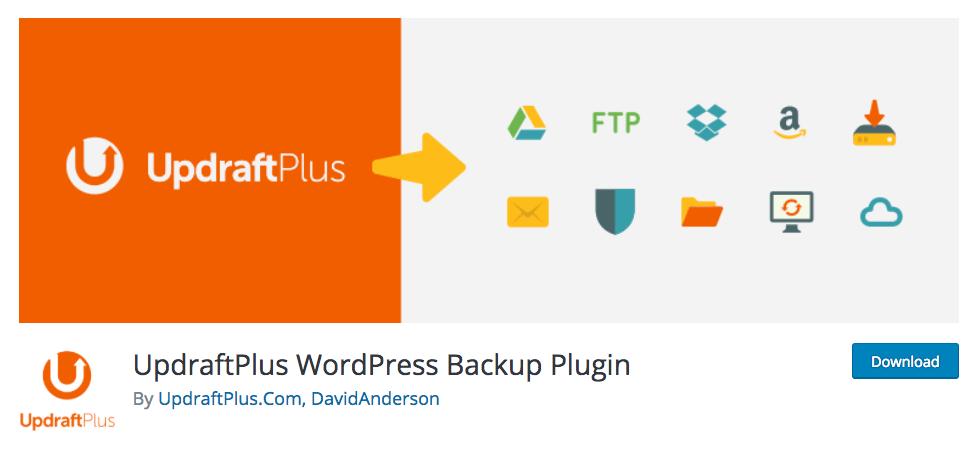 Updraft - plugins backup cho wordpress