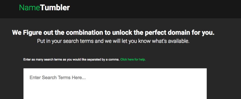 Công cụ gợi ý tên miền NameTumbler