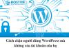 chặn người dùng Wordpress