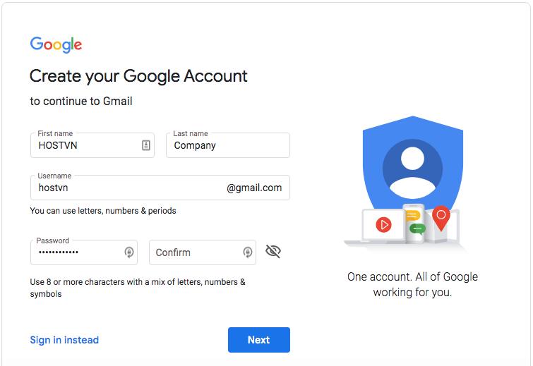 gmail miễn phí