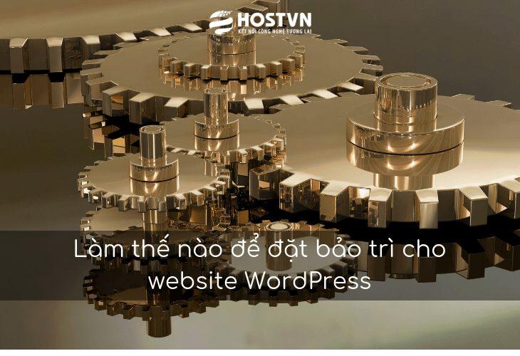 Làm thế nào để đặt bảo trì cho website WordPress