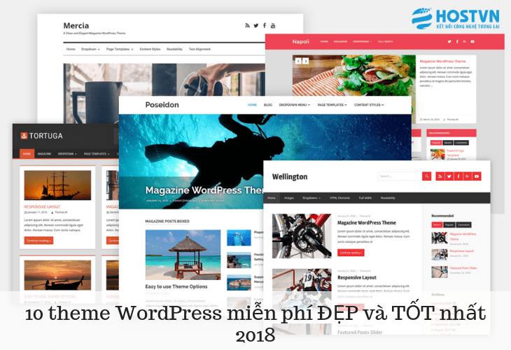 10 theme WordPress miễn phí ĐẸP và TỐT nhất 2018 1