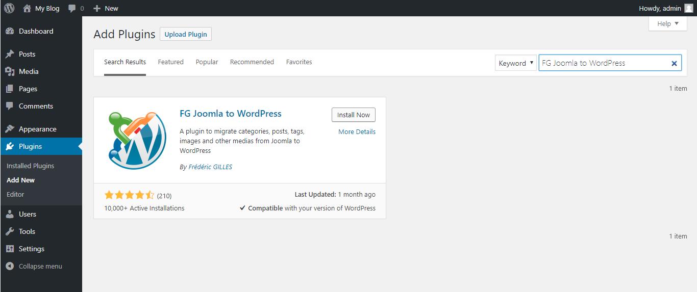 Cách chuyển website từ Joomla sang WordPress NHANH CHÓNG 2