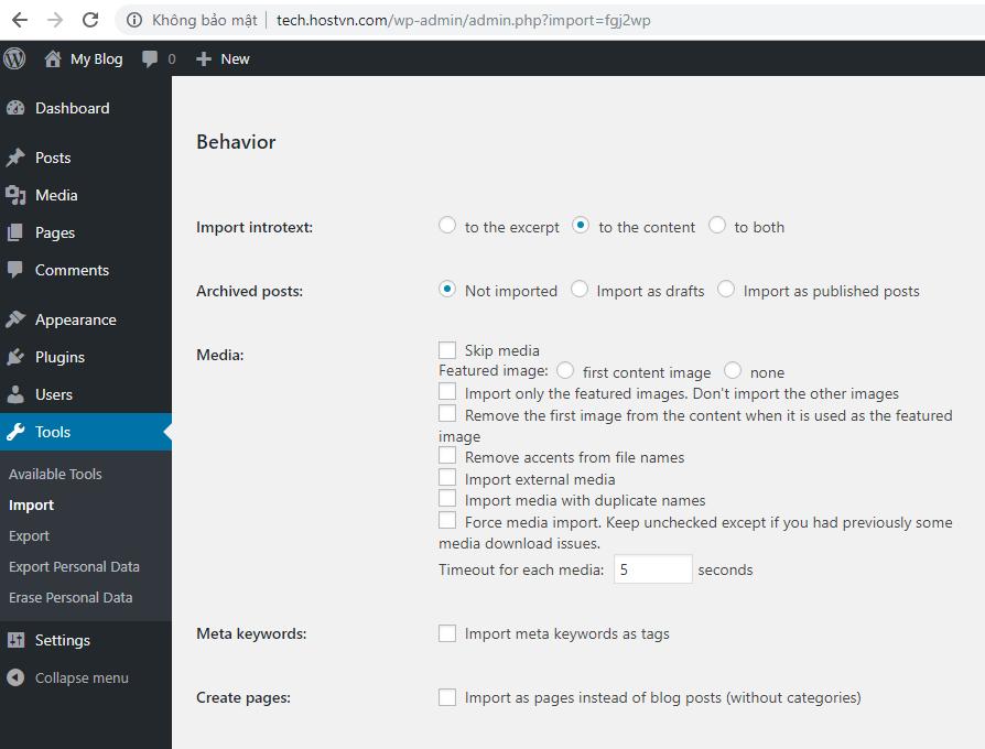 Cách chuyển website từ Joomla sang WordPress NHANH CHÓNG 8