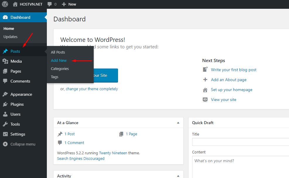 Screenshot_35 - tạo bài viết mới trên wordpress