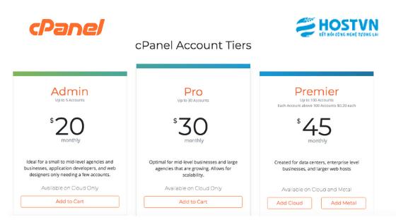 cPanel thông báo sẽ áp dụng cách tính giá license mới kể từ