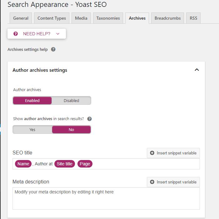 Archives settings - tối ưu Seo cho wordpress