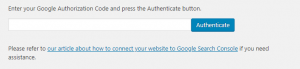 Google Authorization Code - tối ưu Seo cho wordpress