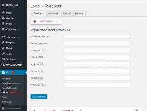Social - Yoast SEO - tối ưu Seo cho wordpress