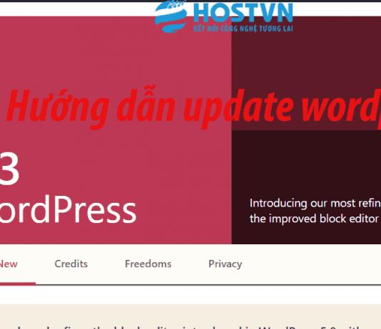 Hướng dẫn update phiên bản wordpress