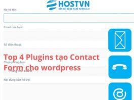Top 4 Plugins tạo Contact Form cho Wordpress