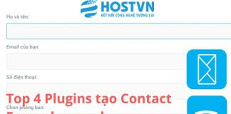 Top 4 Plugins tạo Contact Form cho Wordpress