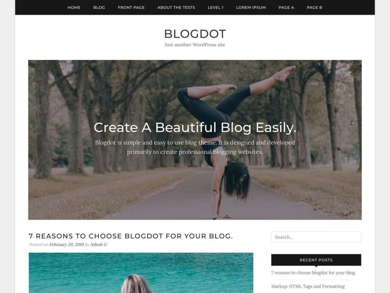 Blogdot - theme WordPress miễn phí