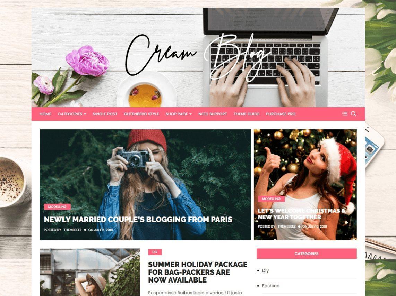 Cream_Blog - theme WordPress miễn phí