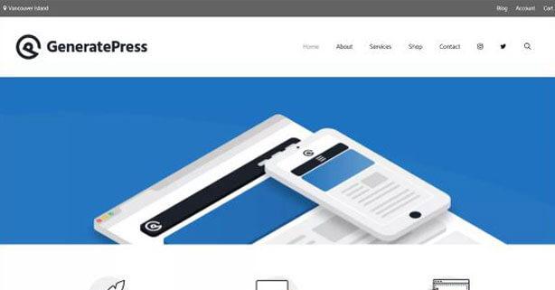 GeneratePress - theme WordPress miễn phí