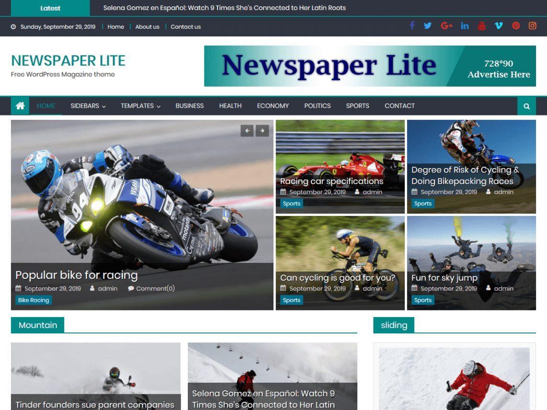 Newspaper_Lite - theme WordPress miễn phí