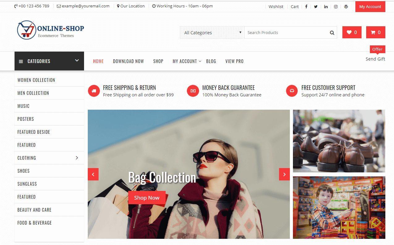 OnlineShop - theme bán hàng wordpress