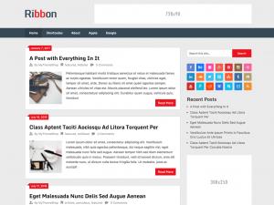 Ribbon_Lite - free WordPress theme
