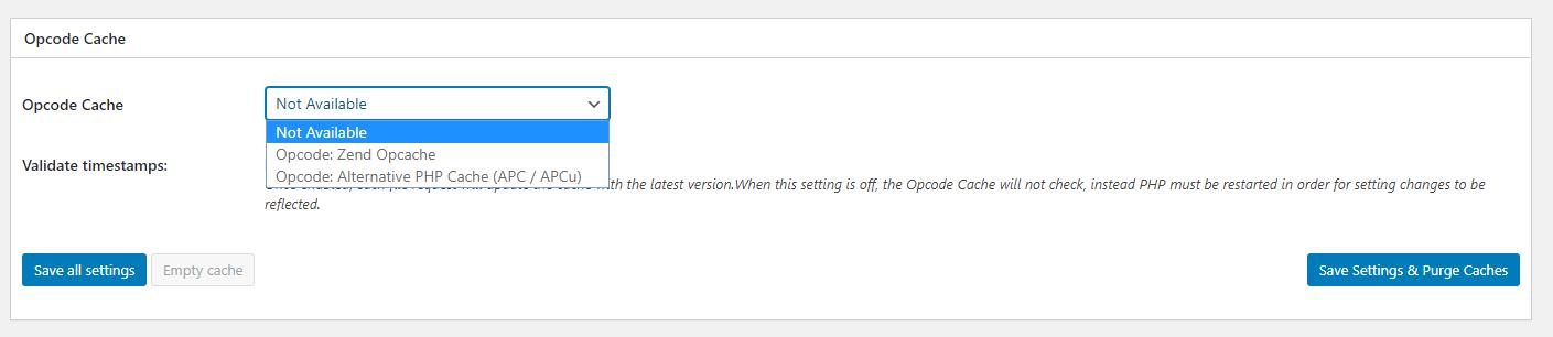 opcache - cấu hình WordPress Cache