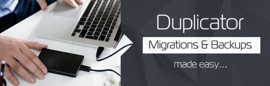 Duplicator - backup website WordPress