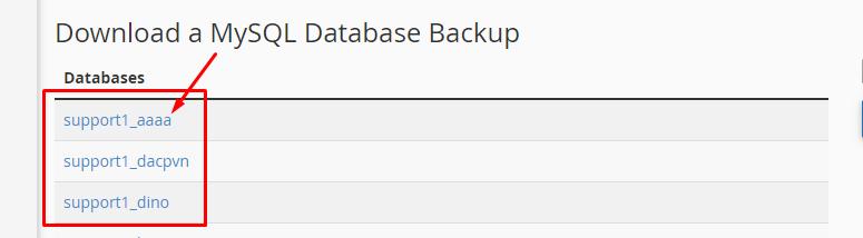 Download a MySQL Database Backup
