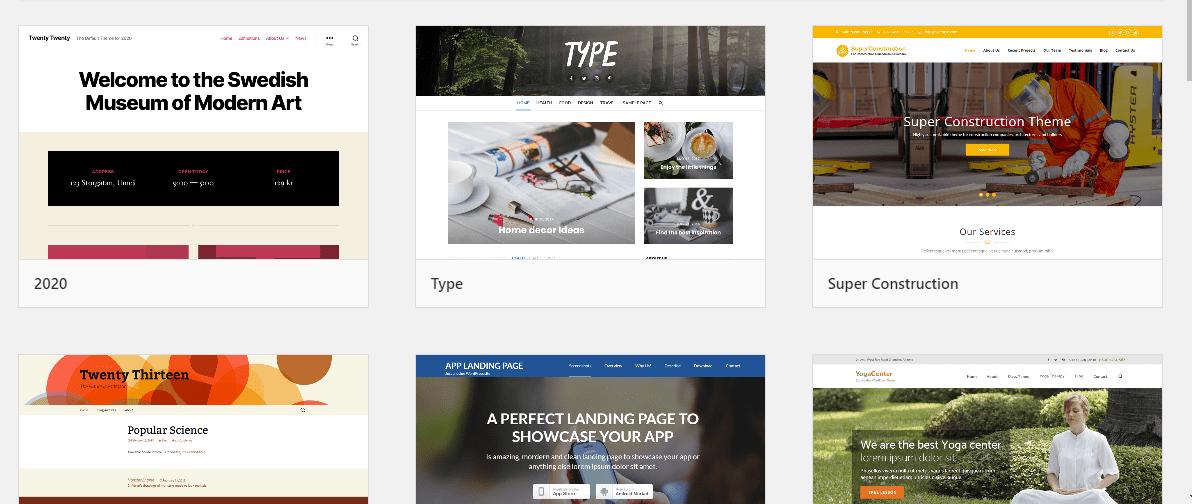 giao diện wordpress - tạo website bằng WordPress