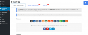 settings Simple Share Buttons Adder