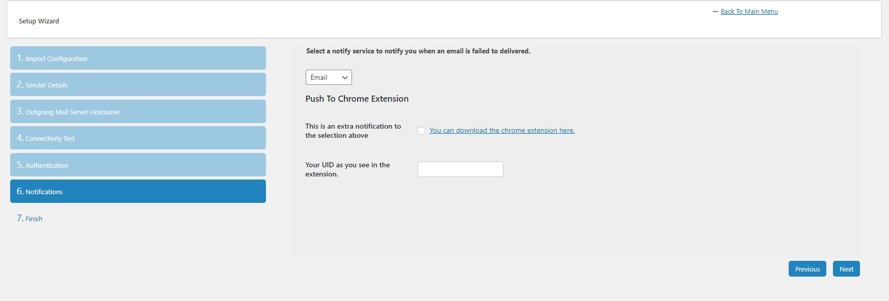 setup notifications - gửi mail SMTP WordPress