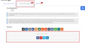 Modern Share Buttons