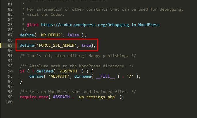 FORCE_SSL_ADMIN - chuyển HTTP sang HTTPS