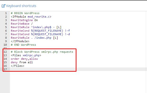 tắt XML-RPC cho WordPress