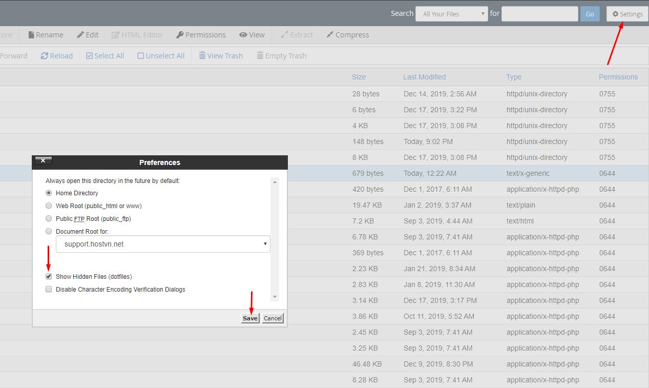 Show Hidden Files (dotfiles) - tắt Directory Browsing cho WordPress