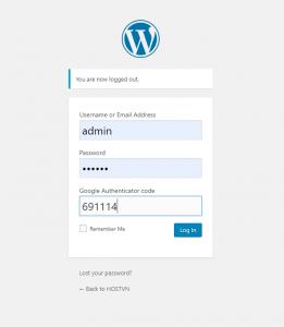 đăng nhập với Xác thực hai yếu tố cho WordPress