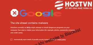website bị Google Blacklist