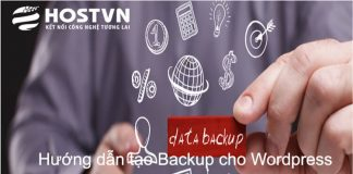 tạo backup website Wordpress