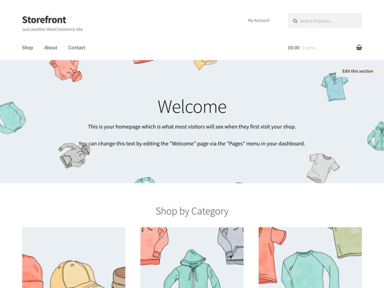 storefront - theme bán hàng wordpress