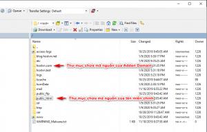 thư mục chứa mã nguồn - tải file lên WordPress bằng FTP