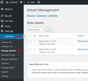 Manage Adverts